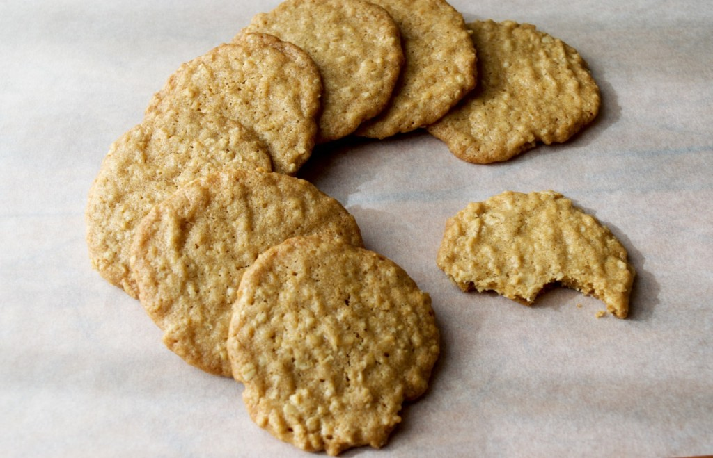 Thin Crispy Oatmeal Cookies | Kitchen on Fourth